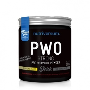 Nutriversum DARK PWO Strong 210g citrom lime